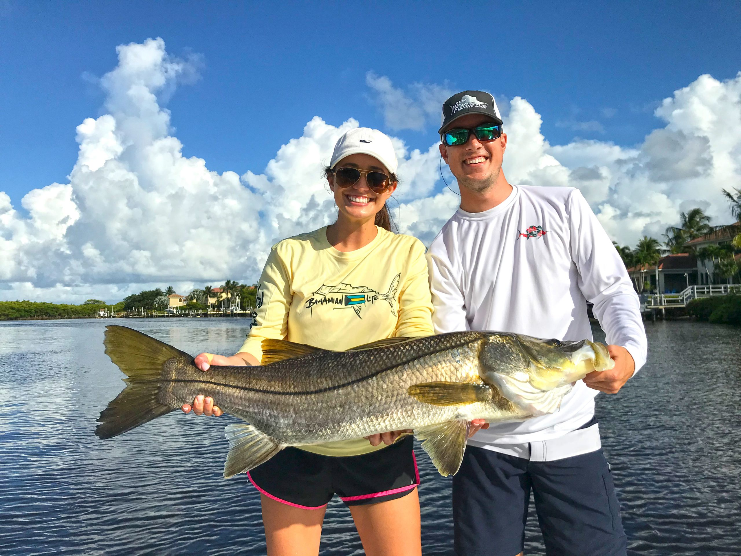 Kelsey Hagan 22 lb snook on 12 gen with an artifical lure in the Lox River on 7-19-20