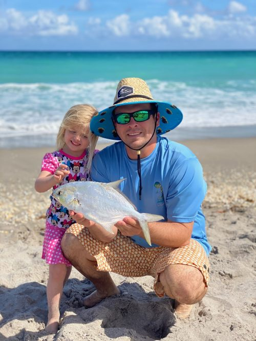 Mark Huyett and daughter Coral with a Pompano